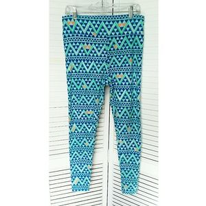 LuLaRoe blue tall and curvy leggings